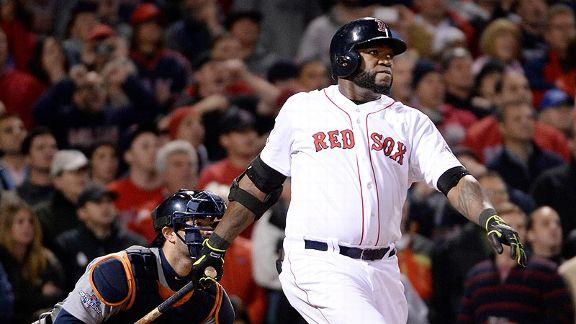 David Ortíz ya envío el misil para que los Medias Rojas de Boston logren el empate transitorio con casa llena.