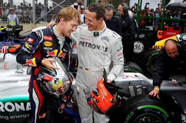 Vettel va a rumbo a consagrarse como el mejor piloto en la historia de la Fórmula 1. Para ello debe conseguir tres títulos más para alcanzar la línea de Michael Schumacher.