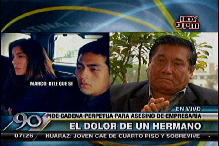 Hermano de empresaria María Castillo, asesinada por su hijo, pide cadena perpetua