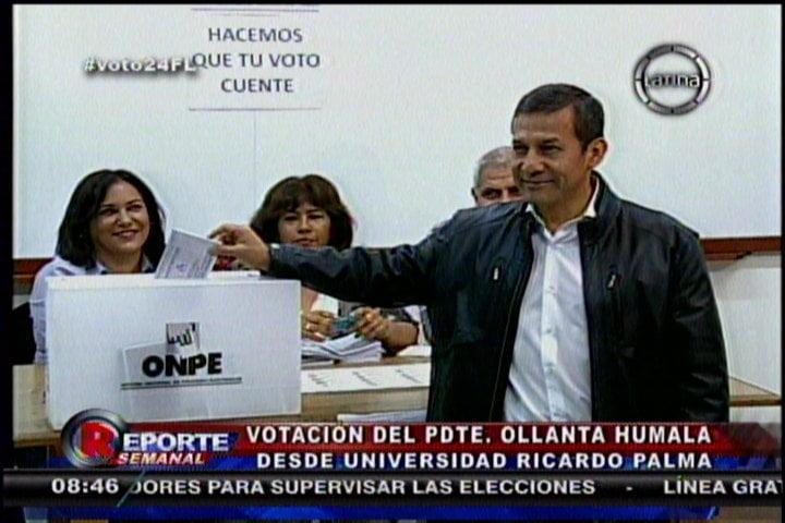 Elecciones complementarias: Ollanta Humala votó temprano y despistó a periodistas