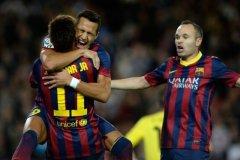 Alexis Sánchez marcó el gol del triunfo del FC Barcelona en el derbi catalán contra Espanyol.