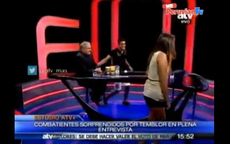 [VIDEO] Combate: Temblor hizo correr a Mario Irivarren y Alondra García-Miró