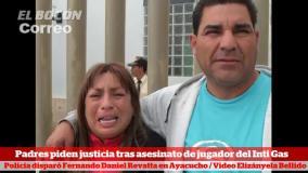 """Padres de asesinado jugador del Inti Gas: """"Cadena perpetua para mal policía"""""""