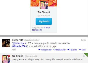 Celebridad en Twitter: @latiachuchi suma 250 mil seguidores