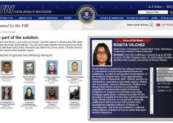 El FBI busca a peruana por fraude bancario y ofrece recompensa