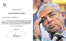 Suspenden presentación de César Villanueva y su gabinete en el Congreso