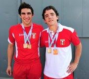 De Souza y Pacheco consiguieron preseas doradas para el país en los Bolivarianos.