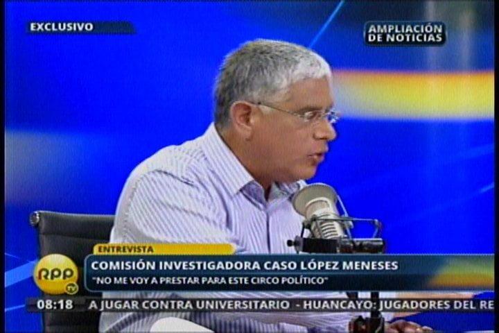 "Óscar López Meneses ignoraría al Congreso: ""No me prestaré a un circo político"""