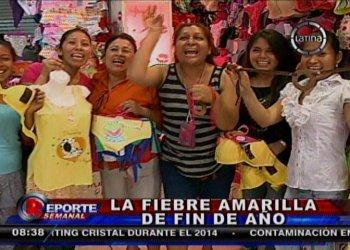 Año Nuevo 2014: Gamarra produce 5 millones de prendas amarillas