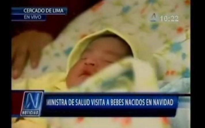 [VIDEO] Génesis y Juan son los primeros bebés de la Navidad 2013