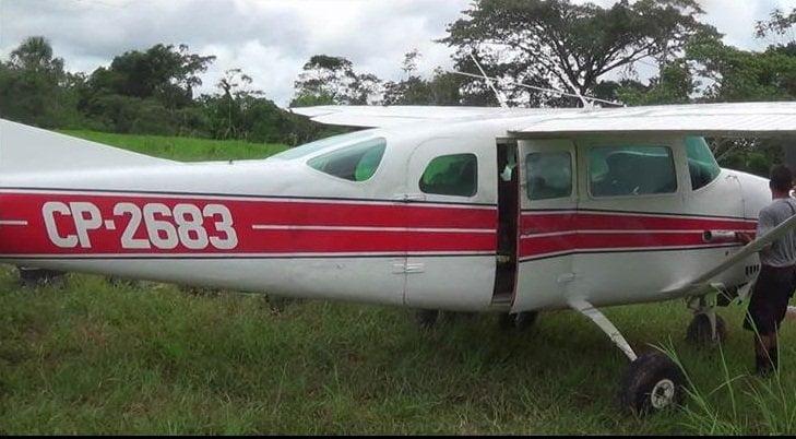 Intervienen avioneta boliviana con 119 kilos de droga en Huánuco