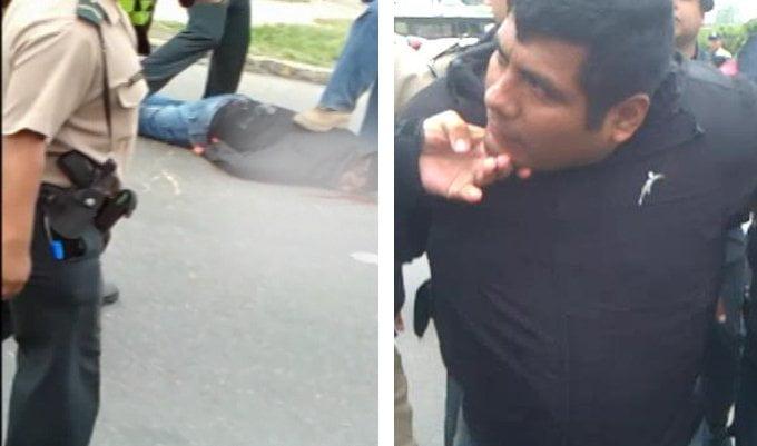 [VIDEO] Así fue la detención de delincuente que asaltó banco en La Molina