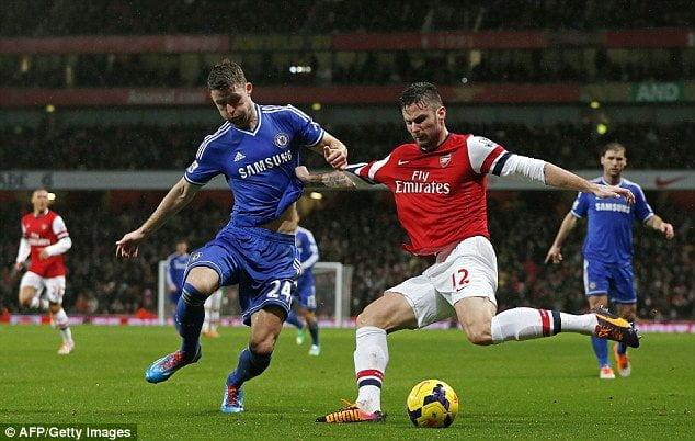 Arsenal no pudo mantener el liderazgo en el fútbol inglés al empatar con Chelsea.