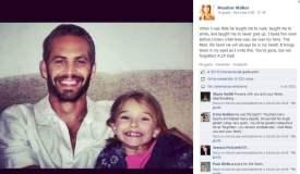 Hija de Paul Walker no escribió emotiva despedida sino un impostor