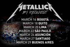 Metallica vuelva a Lima el 20 de marzo del 2014