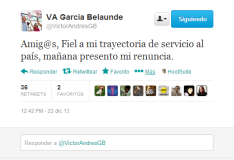 Víctor Andrés García Belaunde renuncia a comisión López Meneses