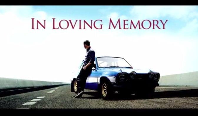 """[VIDEO] Tributo a Paul Walker de la producción de """"Rápido y Furiosos"""""""