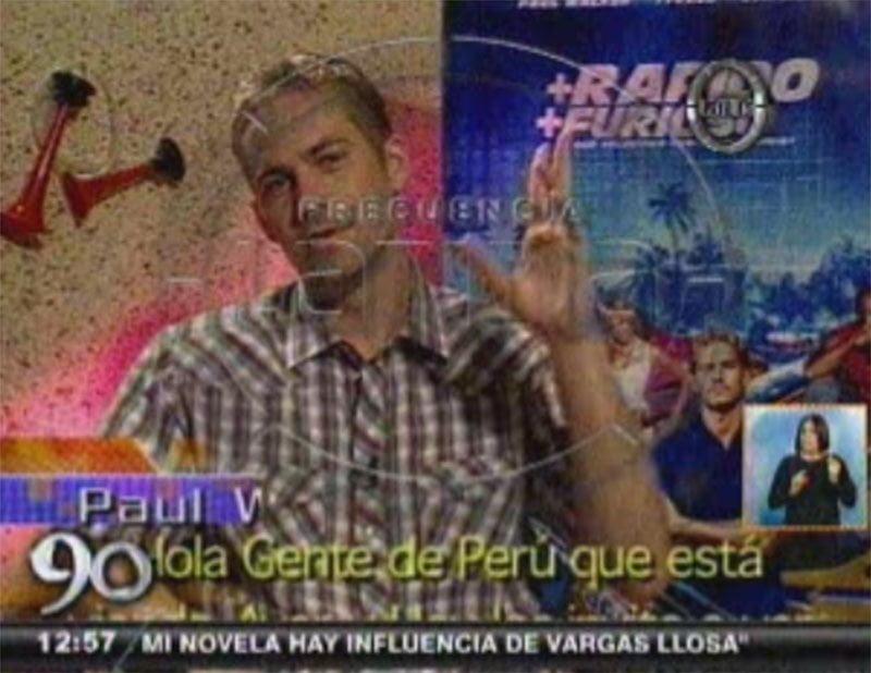 [VIDEO] El día que Paul Walker saludó al Perú y habló de sus autos