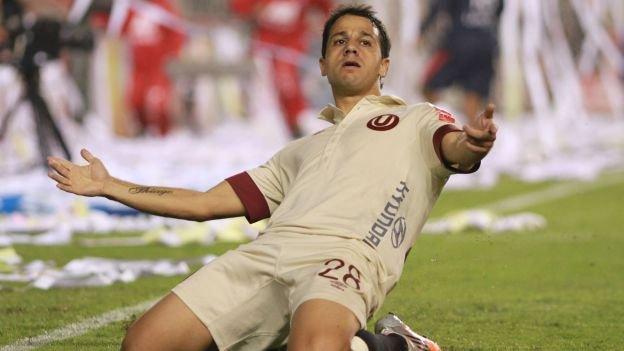 """Diego Guastavino fue  el autor del primer gol crema.  La """"U"""" y Real Garcilaso definirán el campeonato en Huancayo."""