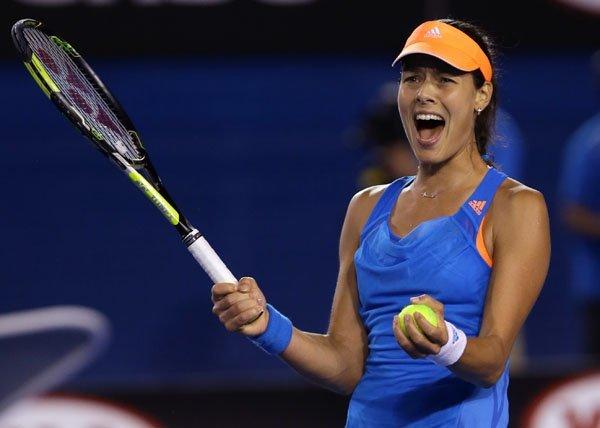 """Ana Ivanovic fue, sólida y contundente """"serena"""" ante la estadounidense Williams."""