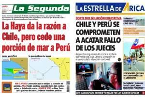 PORTADAS: Prensa chilena cautelosa tras fallo de La Haya
