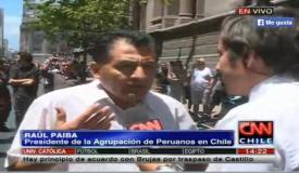 La Haya: Ex MRTA lidera marcha en Plaza de Armas de Chile