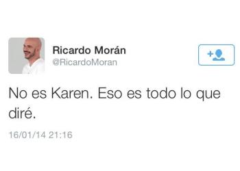 """Ricardo Morán sobre video íntimo de Ezio Oliva: """"No es Karen Schwarz"""""""