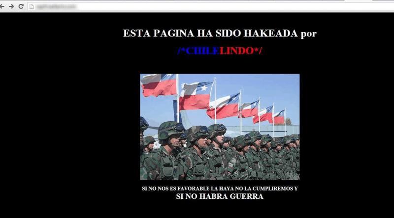 Chilenos hackean web de diario Caplina de Tacna