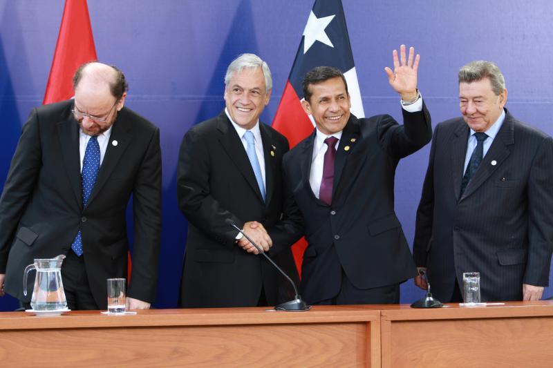 La Haya: Piñera pedirá a Humala reconocer que triángulo terrestre es chileno