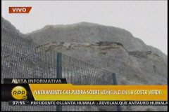Costa Verde: Geomallas son insuficientes y otro auto es impactado por piedras