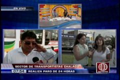 Foto América Noticias / Transportistas del Callao acatan paro de 24 horas que afecta a Lima