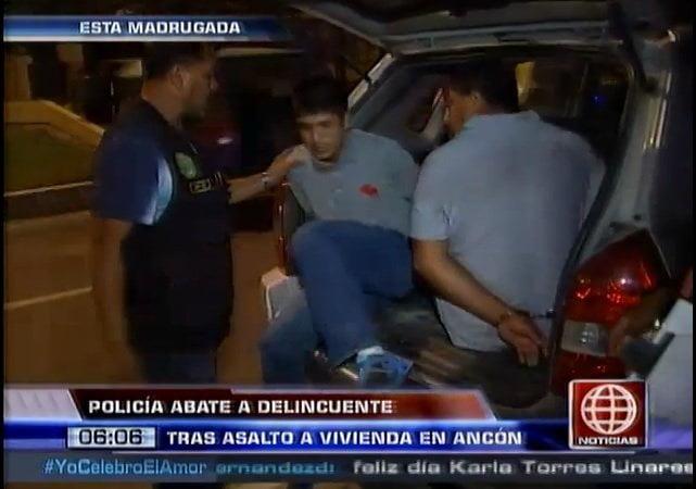 Foto: América TV / Delincuente murió tras asaltar con su hijo una vivienda en Ancón