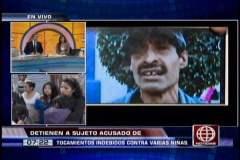 Foto América Noticias / Cercado de Lima: Detienen a hombre que mostraba sus partes íntima a niñas