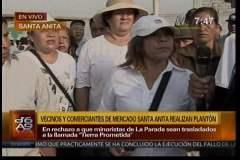 Vecinos y comerciantes de Santa Anita protestan contra Susana Villarán