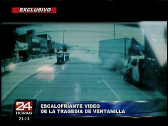 [VIDEO 24 Horas] Cámara grabó accidente en Ventanilla que mató a ocho personas