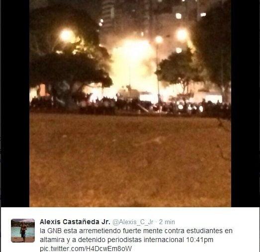 Guardia chavista reprime y detiene a periodistas extranjeros en Venezuela