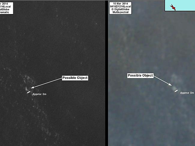 Foto news.com.au /[FOTOS] Estos serían restos del avión de Malaysian Airlines captados por Australia