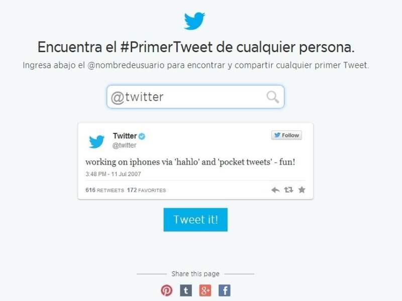 Encuentra tu primer tweet con esta herramienta y te sorprenderás