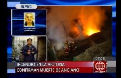 [VIDEO América Noticias] Anciano murió tras incendiarse su vivienda en La Victoria