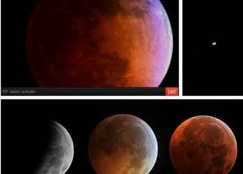 [VIDEOS] Así se vio el eclipse y la Luna roja en todo el mundo