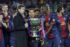 Bajo la conducción técnica de Tito Vilanova, el FC Barcelona realizó su mejor campaña en la historia de la Liga española  al lograr el campeonato con 100 puntos en la temporada 2012-2013.