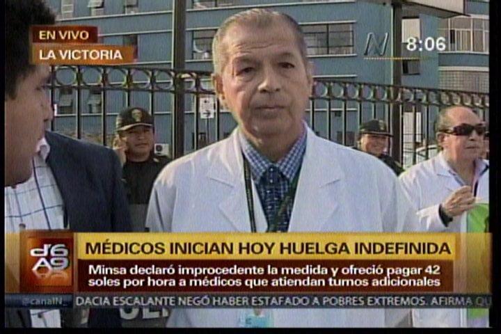 Huelga de médicos de EsSalud y Minsa es acatada parcialmente en el país