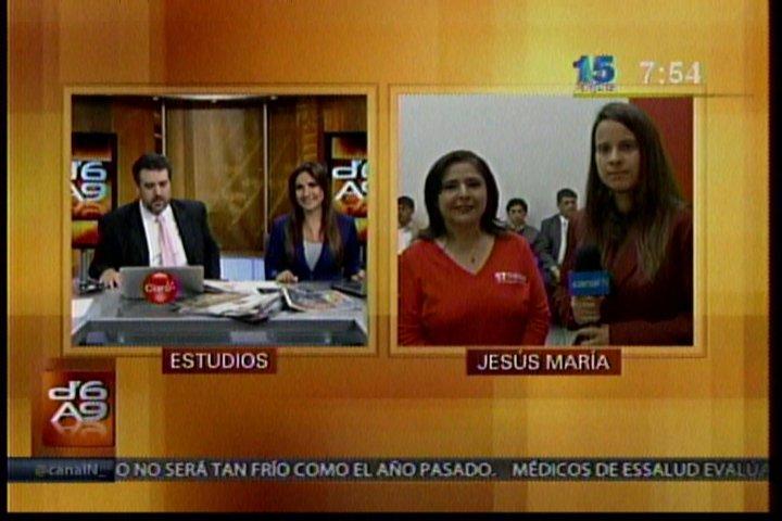 """Foto Canal N / Ministra Ana Jara: """"No pongo las manos al fuego por Otárola, ni por nadie"""""""