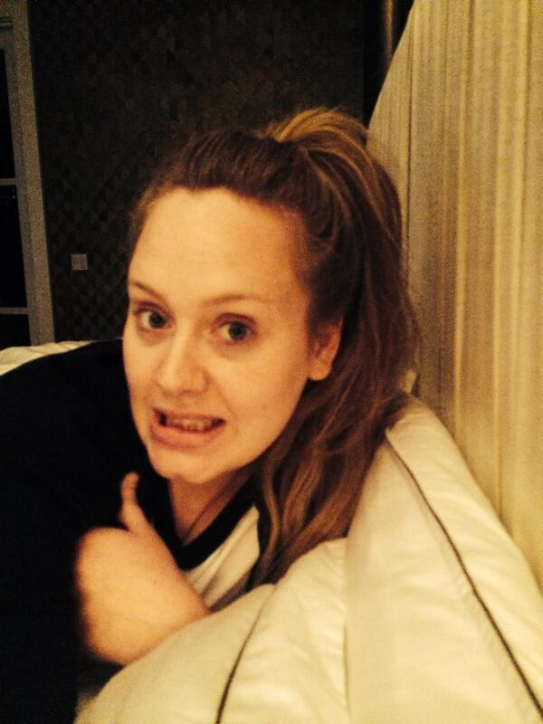 Foto Twitter / [FOTO] De impacto: Adele demacrada en Twitter pero da pistas de nuevo álbum