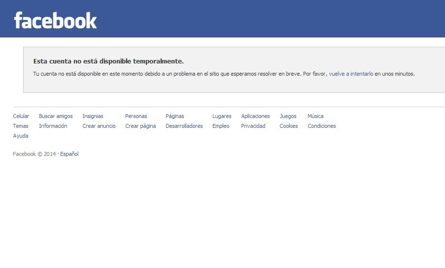 Facebook falló y miles de usuarios reportan problemas vía Twitter