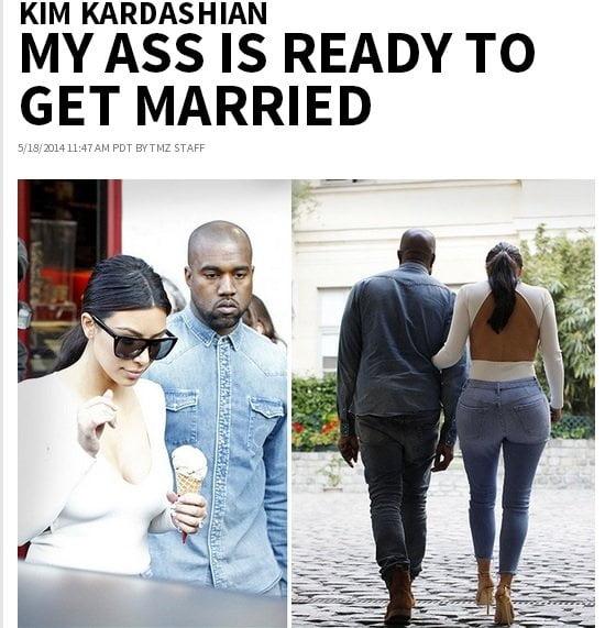 [FOTO tmz] Kim Kardashian: Este trasero está listo para el matrimonio