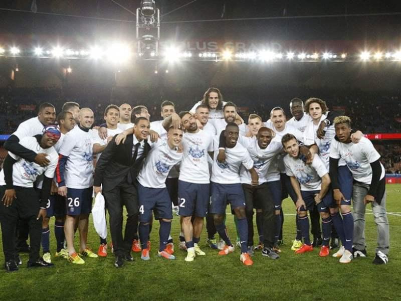 El PSG nuevamente se consagró campeón del fútbol francés.