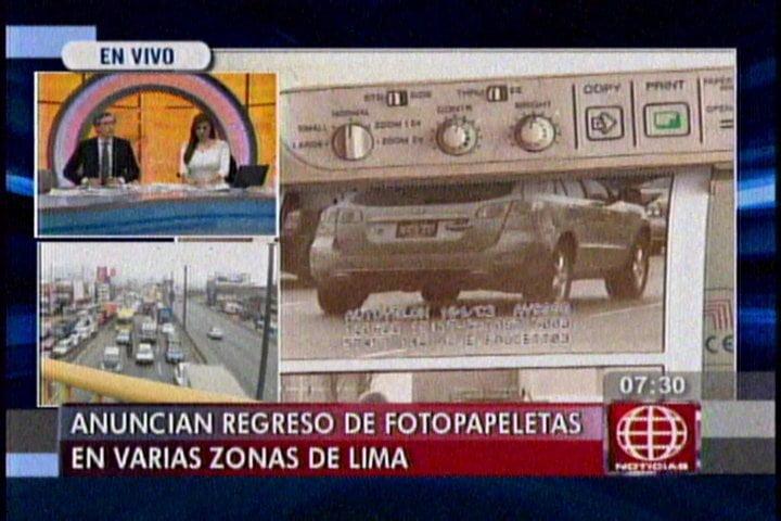 Ojo choferes: Regresan las fotopapeletas en varios distritos de Lima
