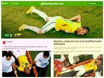 Adios Neymar: Queda fuera de Brasil 2014 por fractura de vértebra