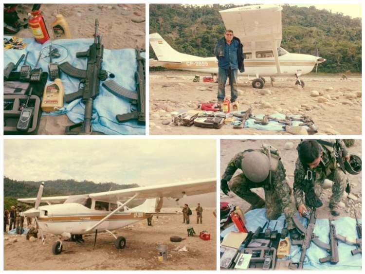 Vraem: FF.AA. recuperan armas e interceptan avioneta de narcoterroristas